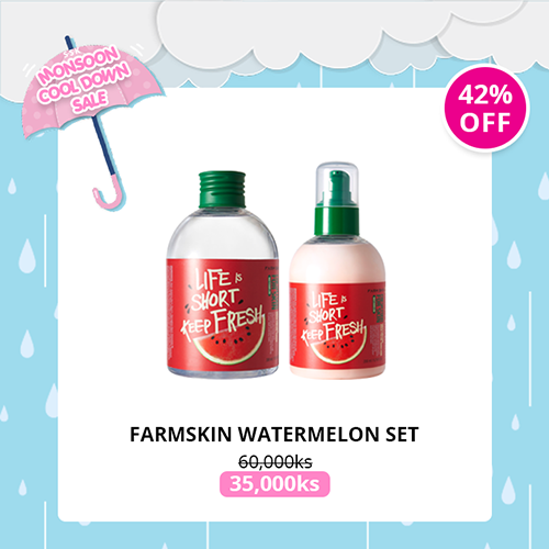[FARMSKIN] Watermelon Toner & Emulsion Set